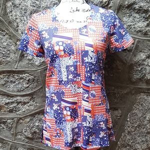 Vintage Women's Custom Made Patchwork Print Blouse